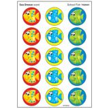 School Fish Stinky Stickers®, Large Round