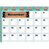 I ♥ Metal Calendar Bulletin Board Set