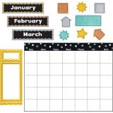I ♥ Metal™ Wipe-Off® Calendar Bulletin Board Set
