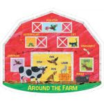 The World of Eric Carle™ Around the Farm 2-Sided Floor Puzzle