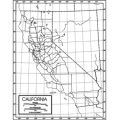 Outline Map, Paper, California