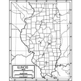 Outline Map, Laminated, Illinois