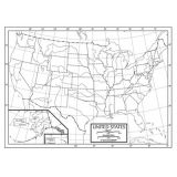 Outline Map, Laminated, United States