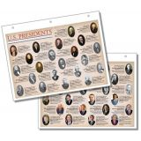 U.S. Presidents Notebook Map, Pack of 10