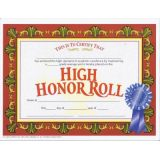 High Honor Roll Certificate