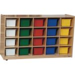 "20-Tray Storage, 30""H x 48""W, With Color Trays"
