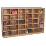 "30-Tray Storage, 36""H x 54""W, With Clear Trays"