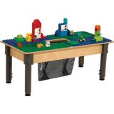 Time-2-Play DUPLO® Compatible Table, Rectangle, w/12-17 Adjustable Legs, Blue/Green