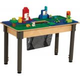 Time-2-Play DUPLO® Compatible Table, Rectangle, w/18-29 Adjustable Legs, Blue/Green