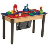 Time-2-Play DUPLO® Compatible Table, Rectangle, w/18-29 Adjustable Legs, Blue/Red