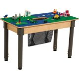 Time-2-Play LEGO® Compatible Table, Rectangle, w/18-29 Adjustable Legs, Blue/Green