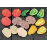 Sensory Play Stones, Pizza Toppings