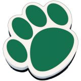Magnetic Whiteboard Erasers, Green Paw