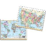 U.S. & World Notebook Map