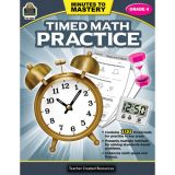 Minutes to Mastery: Timed Math Practice, Grade 4