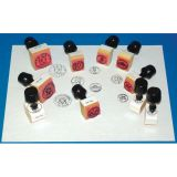 Coin Rubber Stamp Set, Heads & Tails w/handles