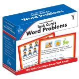 CenterSOLUTIONS™ Task Cards: Word Problems, Grade 1