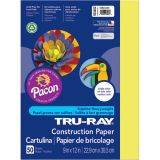 Tru-Ray® Fade-Resistant Construction Paper, 9 x 12, Lively Lemon