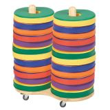 Softzone® Colorful Donut Cushions, 24-Piece Set with Large Cart