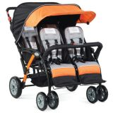 Quad Sport™ 4-Passenger Stroller, Orange