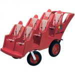 Bye-Bye Buggy® 6-Seat, Fat Tire w/Red Stripe Cushions