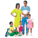 African-American Family Flannelboard Set, Pre-cut