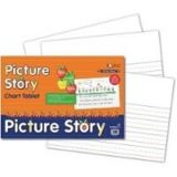 Picture Story Chart Tablet, 24 x 16, 1 1/2 Ruled with 7 Picture Space at Top