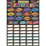 Magnetic Mini Bulletin Board Set, Superhero Birthday