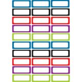 Magnetic Labels, Assorted Solid Colors