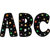 Designer Letters, Dots on Black, 7