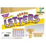 2 Uppercase Casual Ready Letters®, Metallic Gold