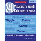 240 Vocabulary Words Kids Need to Know, Grade 2