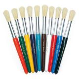 Round Handle Stubby Brushes, Set of 10