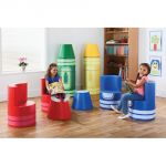 Softplay Crayon Seating, Yellow