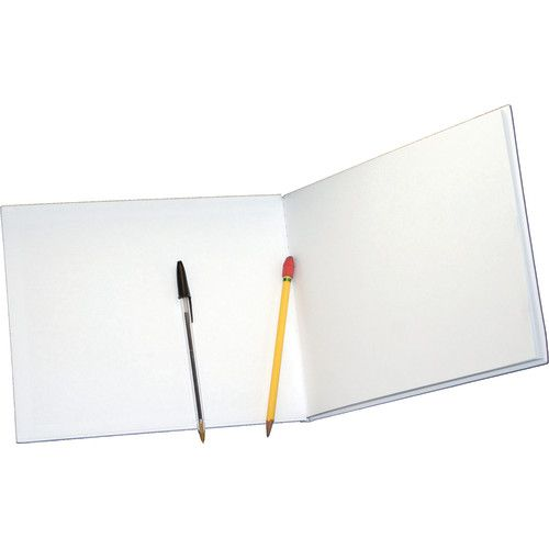 white hardcover blank book landscape style 8 1 2 x 11 ash10710