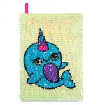 Magic Sequin Narwhal Journal - Unicorn/Narwhal
