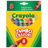 Crayola® Jumbo Crayons, 8 color set