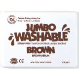 Jumbo Washable Stamp Pad, Brown