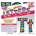 Playful Patterns 4 Uppercase/Lowercase Ready Letters® Combo Pack, Stained Glass