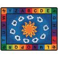 Sunny Day Learn and Play Carpet, 8'4 x 11'8 Rectangle, Primary Colors