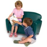 Just Like Home Preschool Sofa, Premium Vinyl Upholstery, Teal