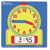 Write-On/Wipe-Off Student Clocks, Set of 10