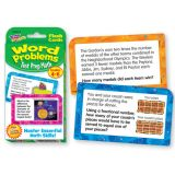 Test Prep Math Word Problems Challenge Cards®, Grades 4-6
