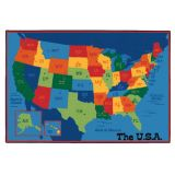 KID$ Value Line PLUS™ Rug, USA Map Rug, 8' x 12'