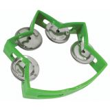 Small Star Tambourine, Green