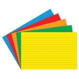 Border Index Cards, 4 x 6 Lined, Primary Colors