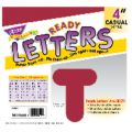 4 Uppercase Casual Solids Ready Letters®, Maroon