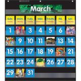 Monthly Calendar Pocket Chart, Black