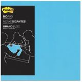 Post-it Big Pad, 22 in x 22 in, Electric Blue, 30 Sheets/Pad (BP22B)