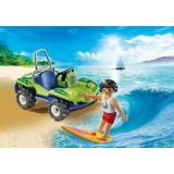 SURFER WITH BEACH QUAD